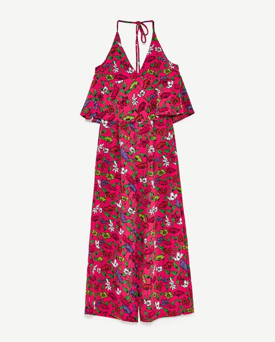 e8d2beb5644f Image 8 of FLORAL PRINT JUMPSUIT from Zara