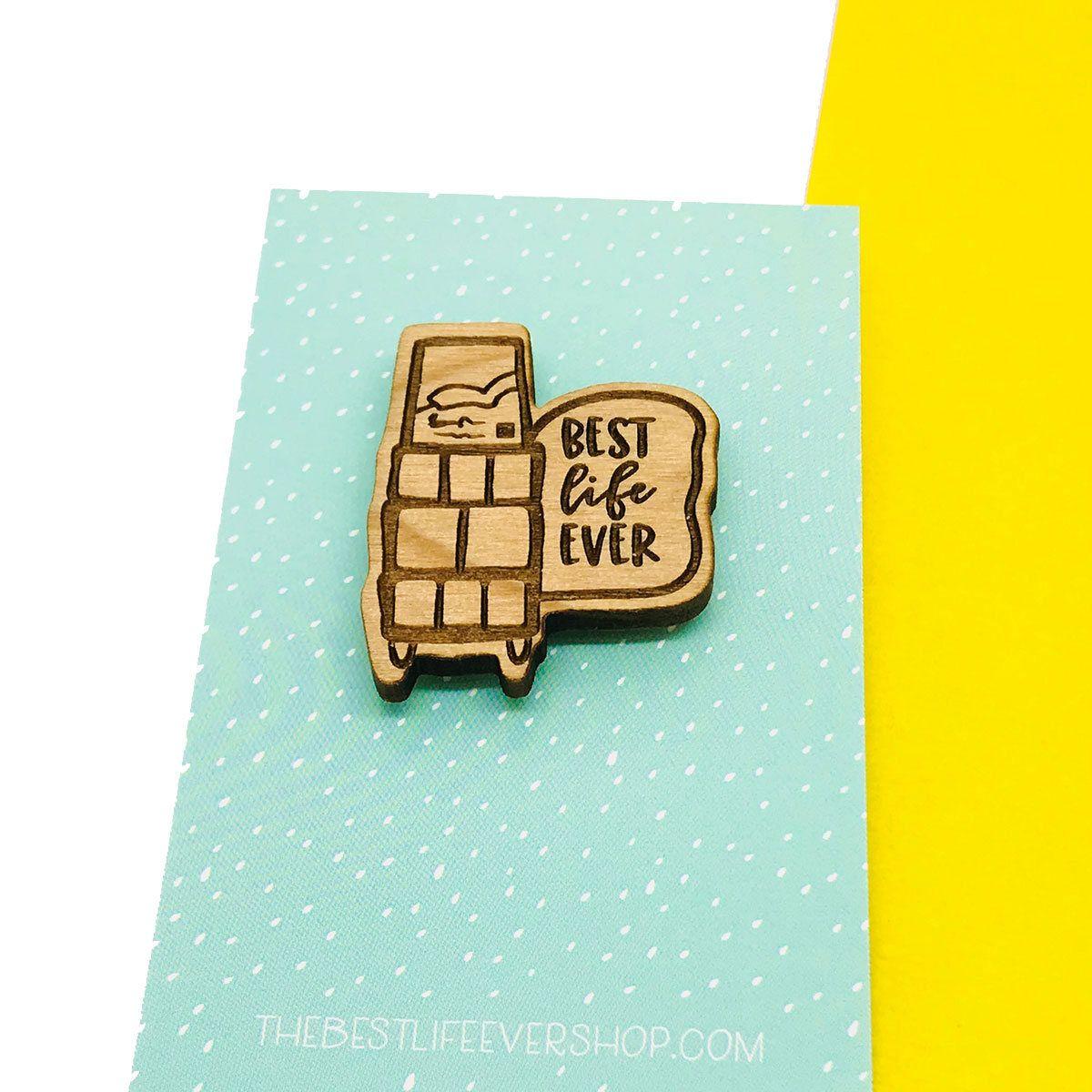 efeb59ec47e7 Laser Engraved Wooden Lapel Pin - Best Life Ever Cart jw gifts - jw  ministry -