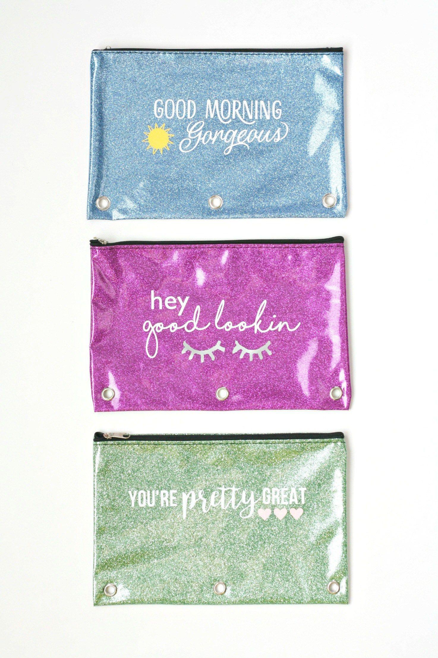 DIY Dollar Store Makeup Pouches Diy makeup bag, Diy gift