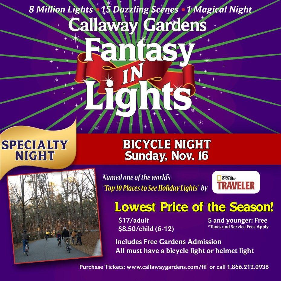 Bicycle Through Fantasy In Lights Sun Nov 16 2014 Bring A Bike