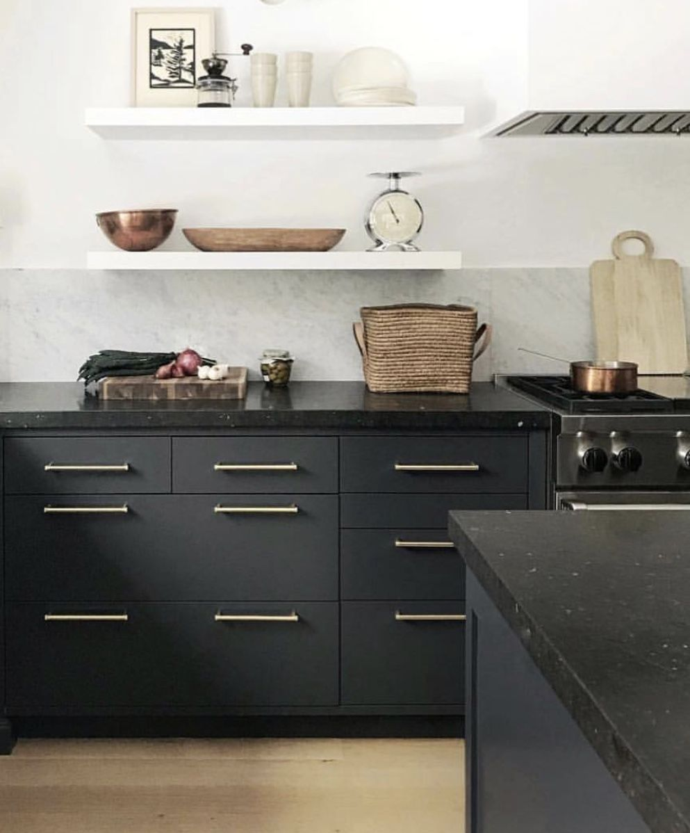 inspiration for willow house main house kitchen matte black cabinets with matte blac with on kitchen decor black countertop id=94141