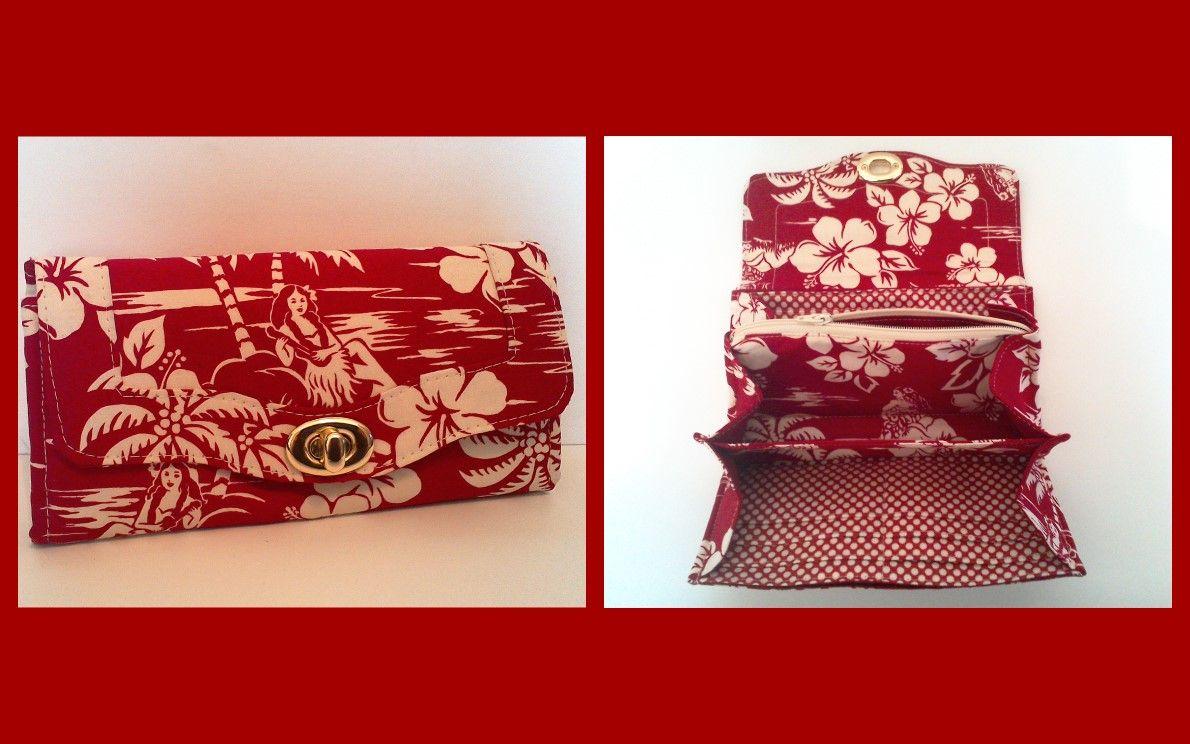 Hawaiian print NCW wallet. Emmaline patterns by syacreations ...