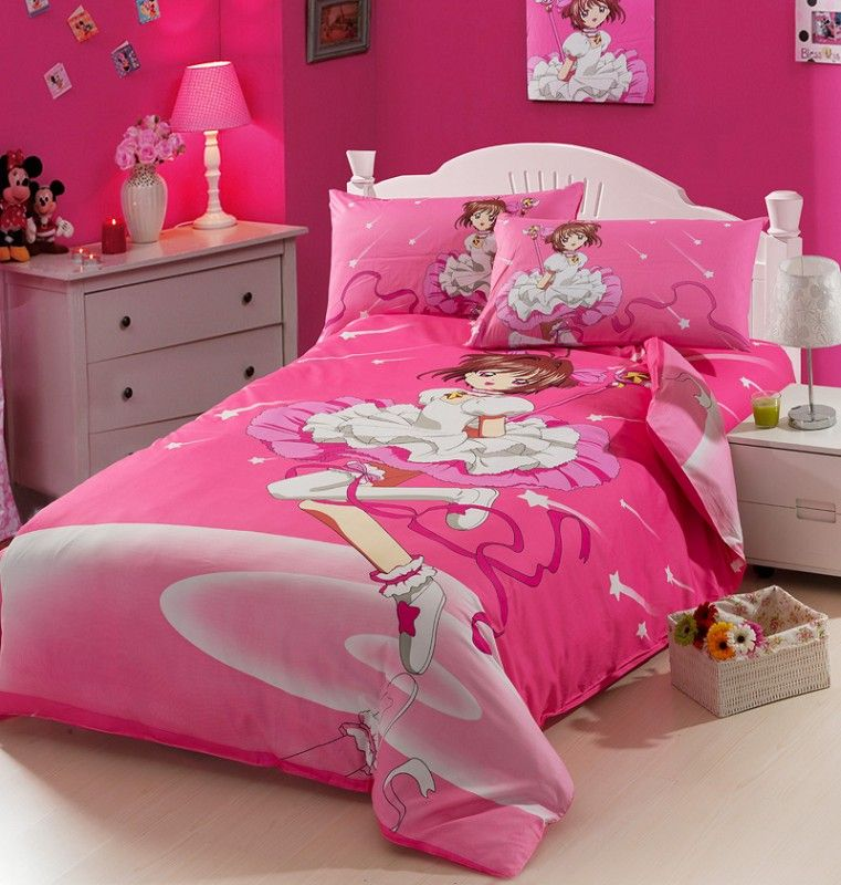 Cardcaptor Sakura Pink Kids Duvet Cover Bedding Sets