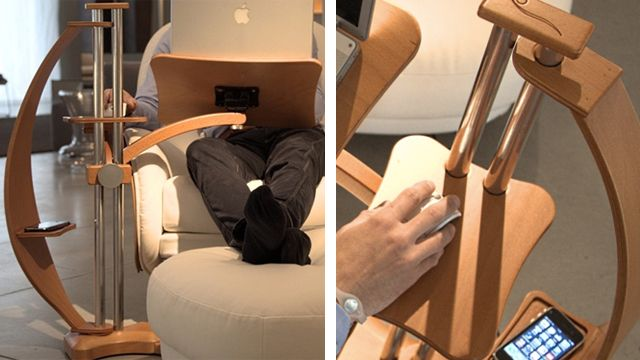 Turn Any Armchair Into A High Flyinu0027 Desk With A Laptop Stand