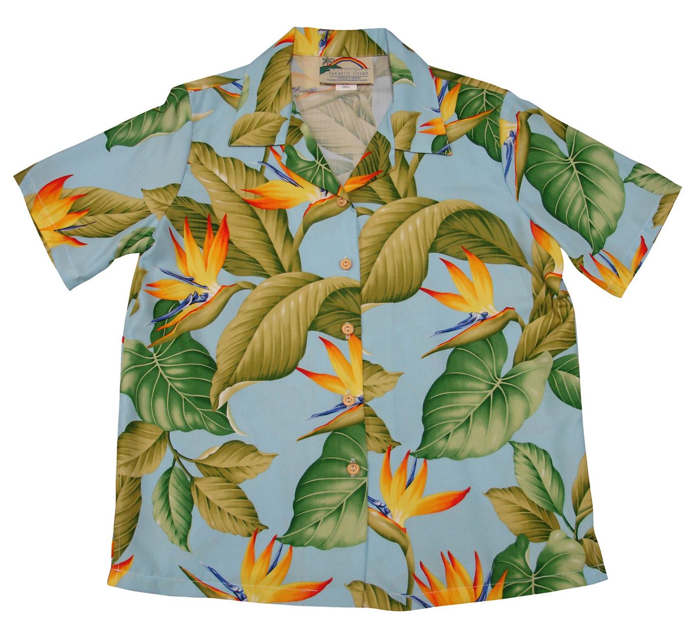 d539e00c0cb5 Paradise Found creators of fine Hawaiian style clothing with many Men's and  Women's matching outfit prints. Hand made for over 50 years. 100% Rayon .