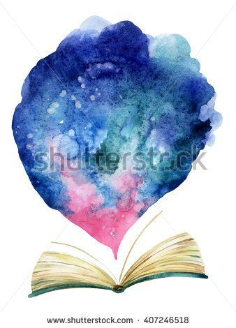 Water Color Open Book With A Castle Google Search Open Book