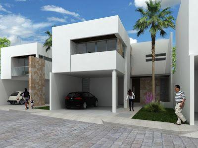 Fachadas Contemporáneas dos pisos fachadas de casas Pinterest - fachadas contemporaneas