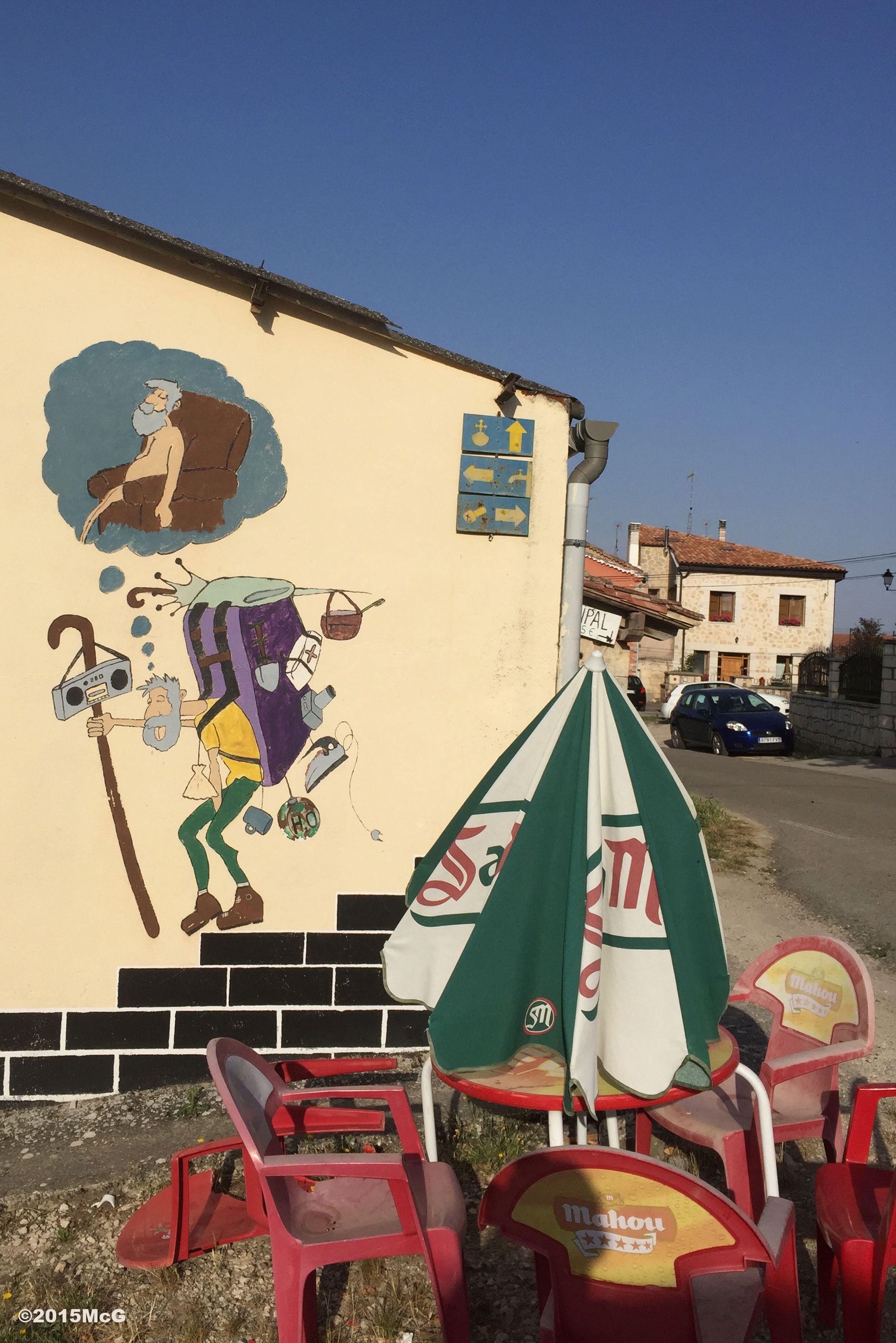 Drawing in Cardenuela Riopico #Camino 2015 july McG