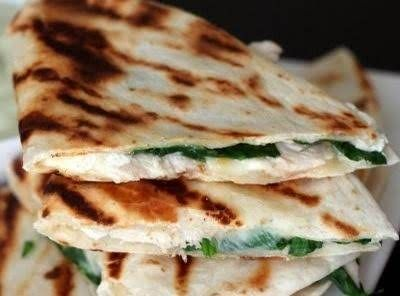 Chicken Spinach And Goat Cheese Quesadillas Recipe Recipes Food Cooking