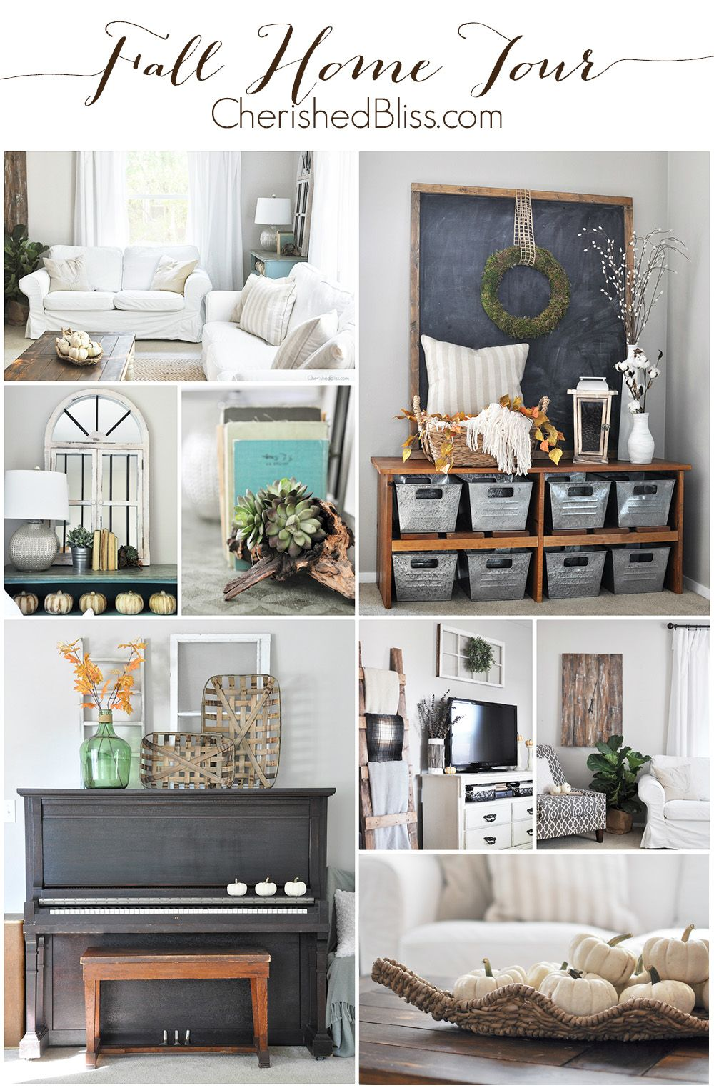 Fall Home Tour 2015 | Neutral, Decorating and Living rooms