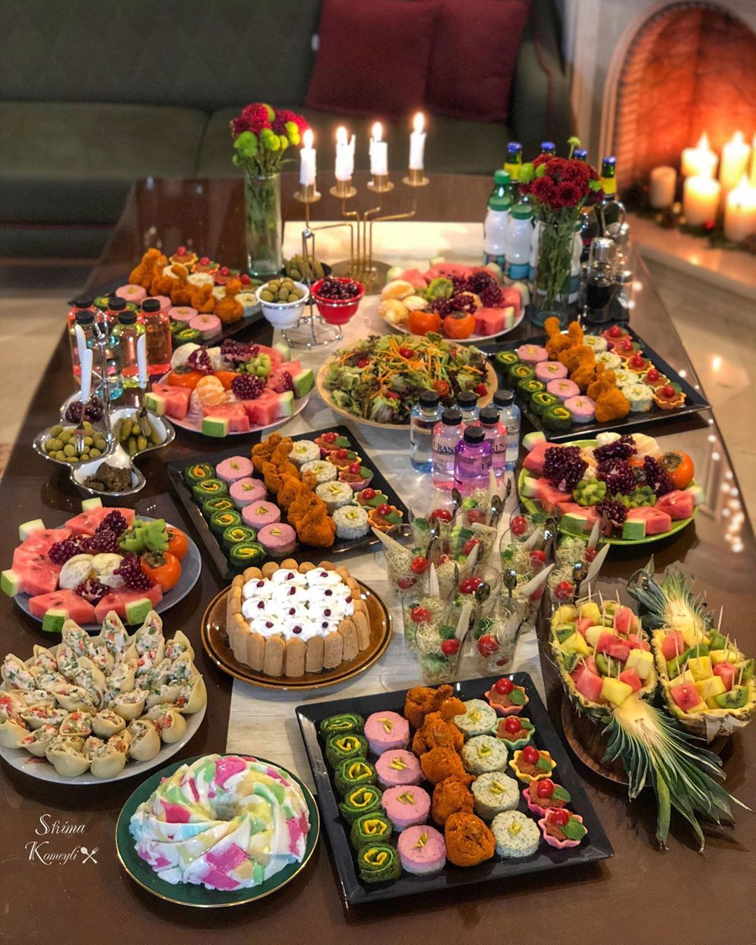 Shima Komeilyzade On Instagram سلام بروی ماه همه تون چقدر دلم برای معاشرت باهاتون تنگ شده بود این پستی که می بینید از میز شام تولد ه Yummy Food Food Yummy