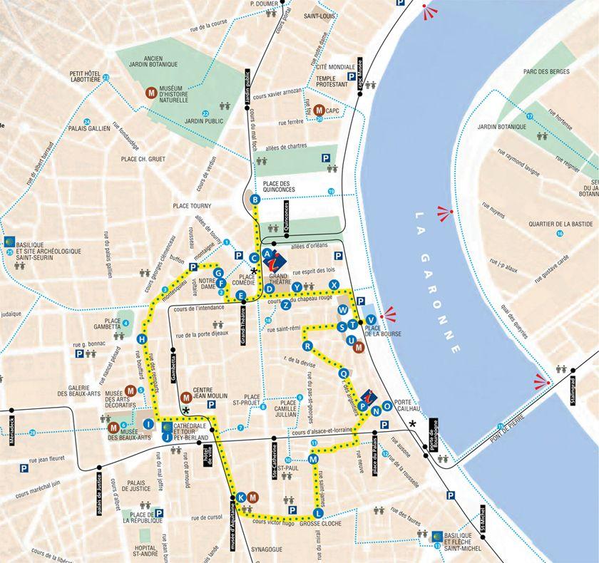 Plan du centreville Centre