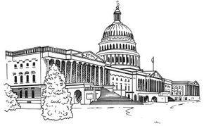 Kansas State Capitol Architectural Drawing Coloring Page Kansas