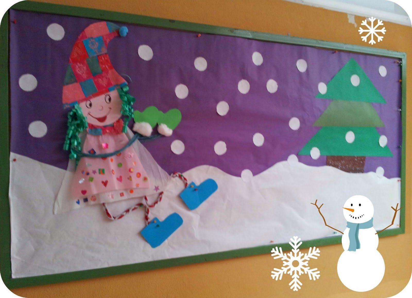 Pequenines mural de invierno infantil pl stica y - Proyecto el invierno ...