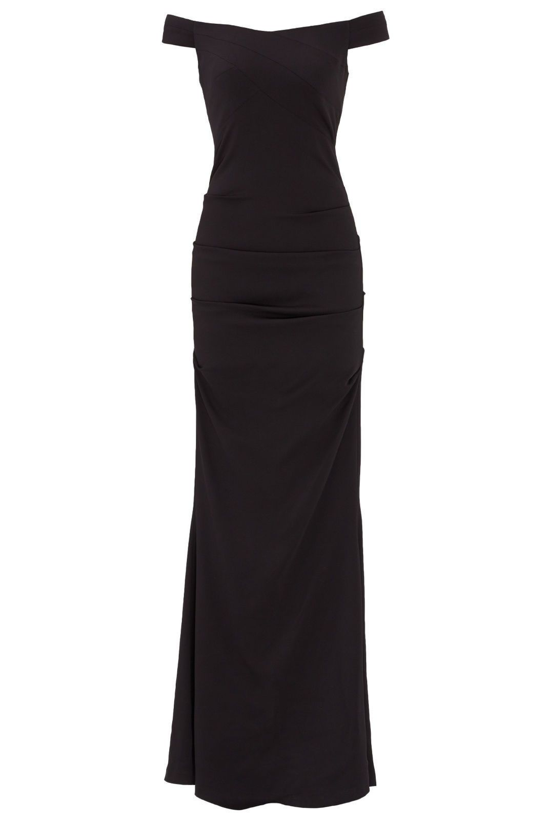 Awesome awesome nicole miller black offshoulder crepe womenus