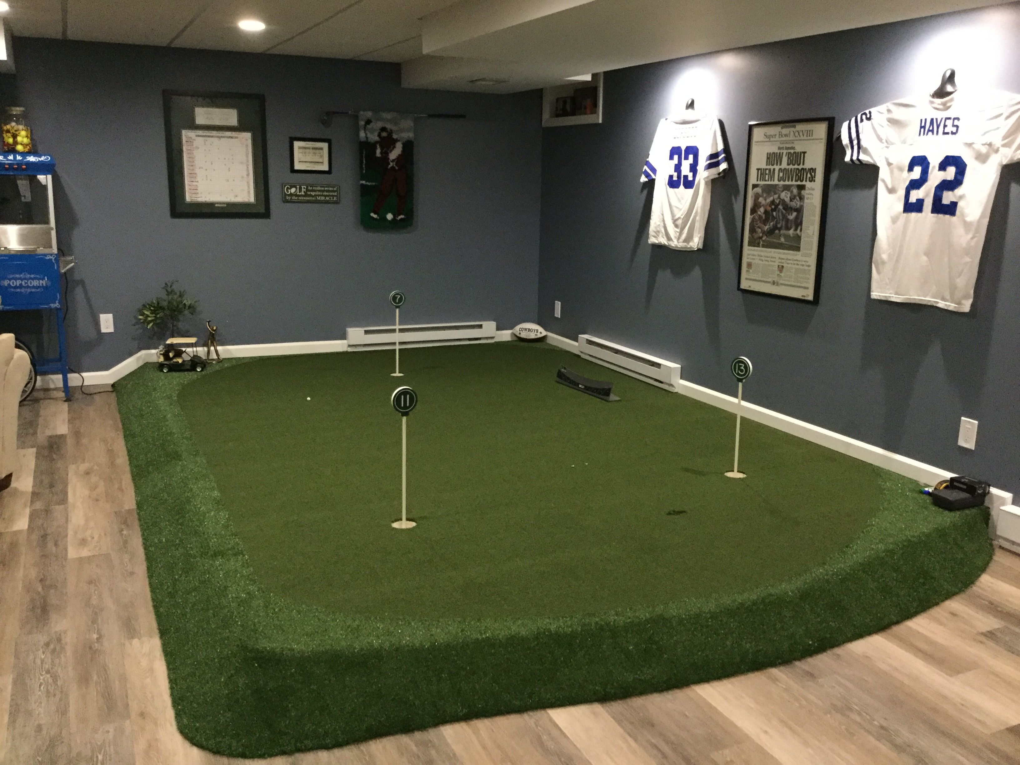 Our Indoor Putting Green Love It Golf Room Backyard Putting