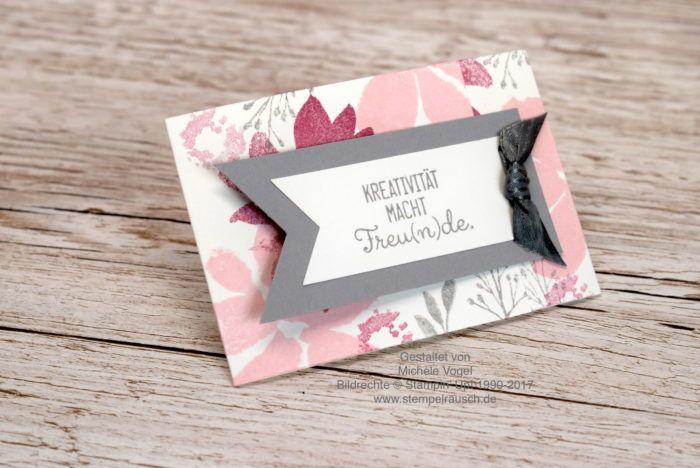 Visitenkartenhalter Für Eine Visitenkarte Basteln Mit Den