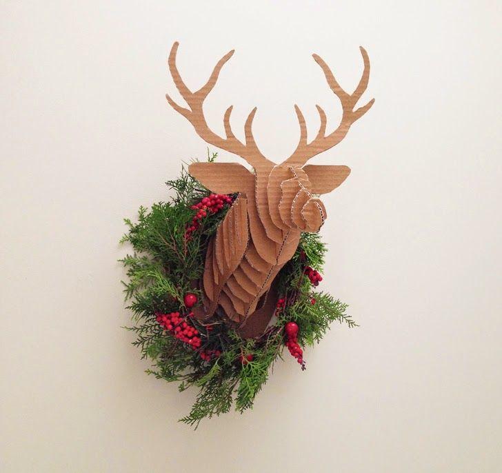 Http://www.mumaroo.com.au/2014/11/diy Cardboard Christmas Deer Head.html