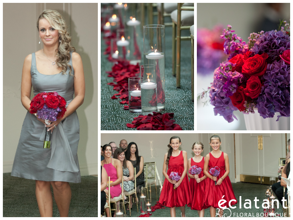 Wedding party grey bridesmaids dresses red and purple wedding wedding party grey bridesmaids dresses red and purple wedding flowers red and purple ombrellifo Choice Image