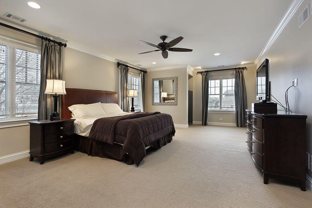 40 Luxurious Primary Bedroom Ideas Beige Walls Bedroom Dark Bedroom Furniture Dark Furniture