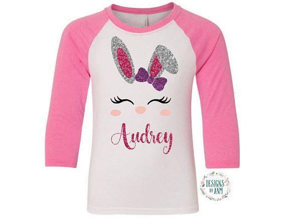 Girls Easter ShirtPersonalized Girls Easter ShirtEaster