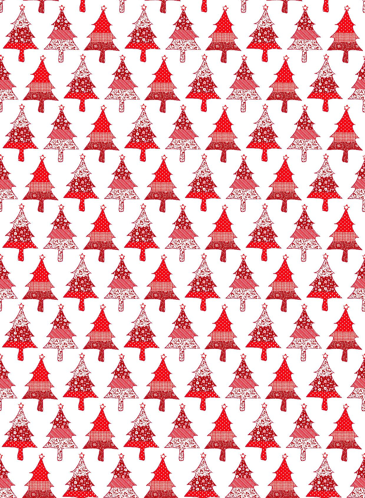 christmas wrapping paper red fabric petite designs christmas trees - Christmas Paper