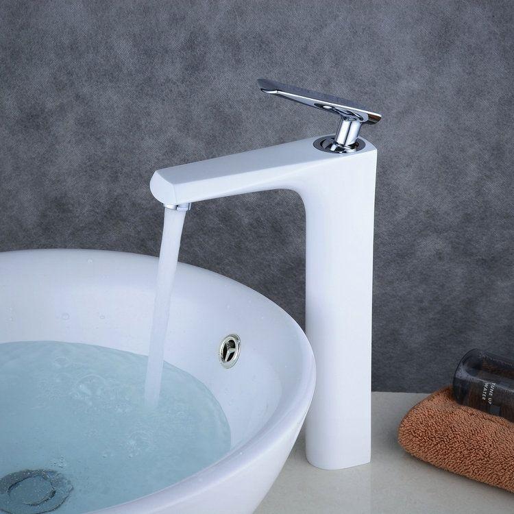 バス水栓洗面蛇口混合水栓水道蛇口浴室用真鍮製白色bl0317cwh 蛇口