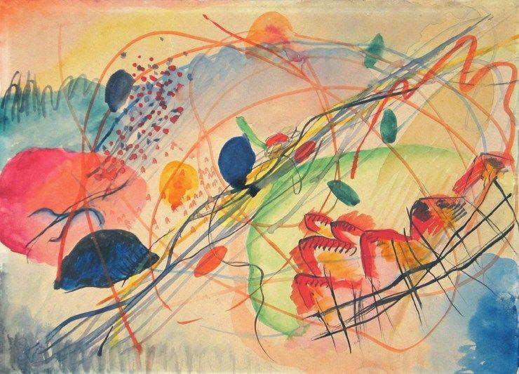 Wassily Kandinsky Aquarell No 6 1911 Stedelijk Museum