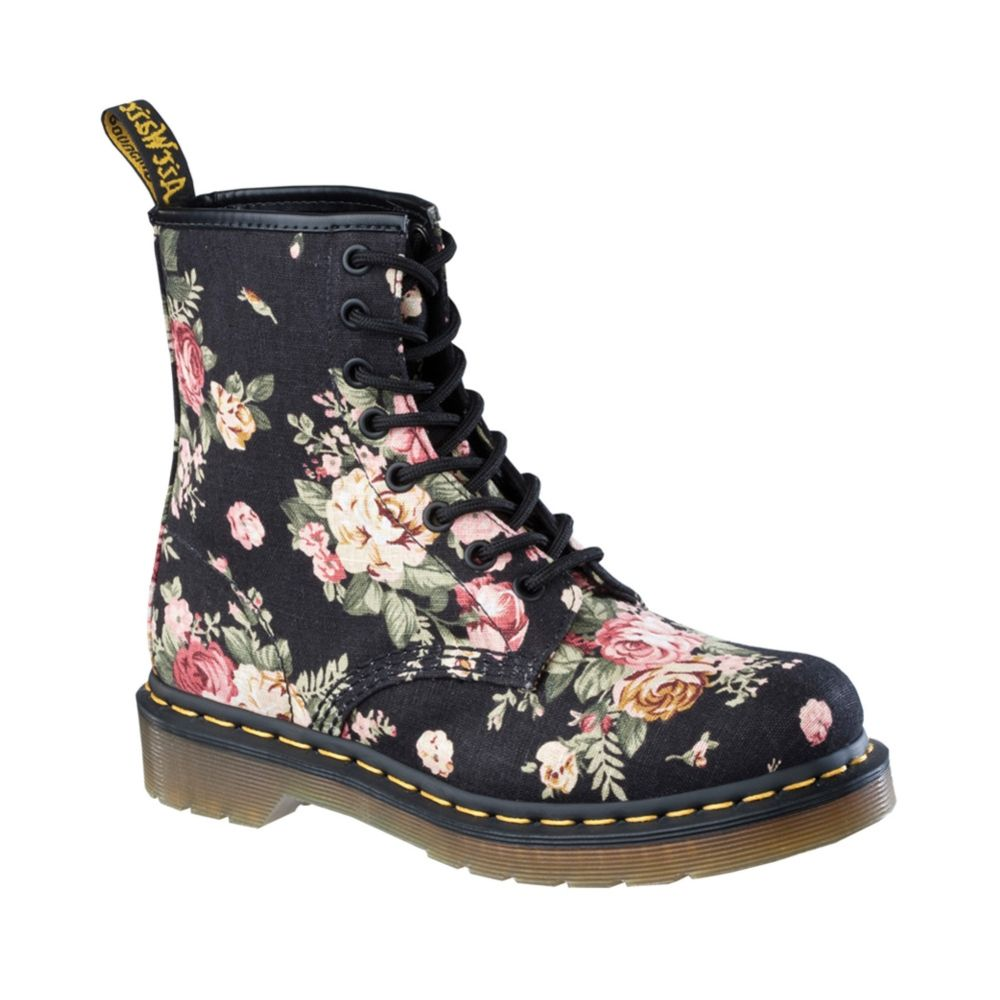 Womens Dr. Martens 8 Eye Flower Boot 00b4eb4c7