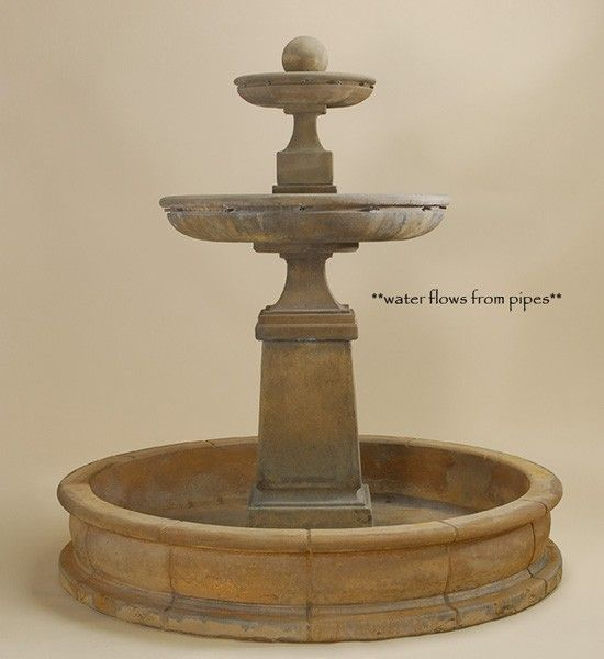 Hampton Tall Pond Fountain. A classic and large fountain sure to be the focal point to any space.