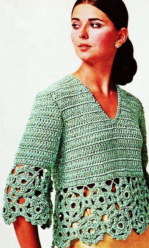Vintage Knitting Pattern - Cardigan Tunic Top - Zipper up Sweater ...