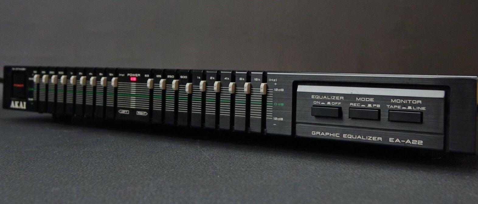 Akai EA-A22 - 9 Band Stereo Graphic Equalizer - EQ | Audio