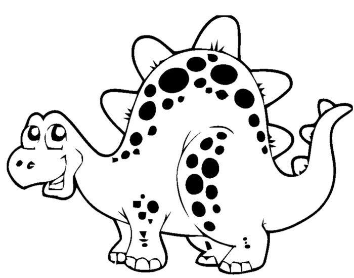 Easy To Make Coloring Sheets For Toddlers Coloring Pages For Toddlers  Simple Coloring For Ed… Dinosaur Coloring Pages, Dinosaur Coloring, Free  Kids Coloring Pages