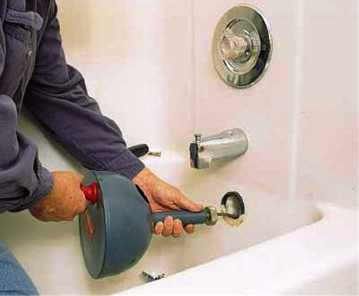 How to unclog a bathroom sink drain with standing water