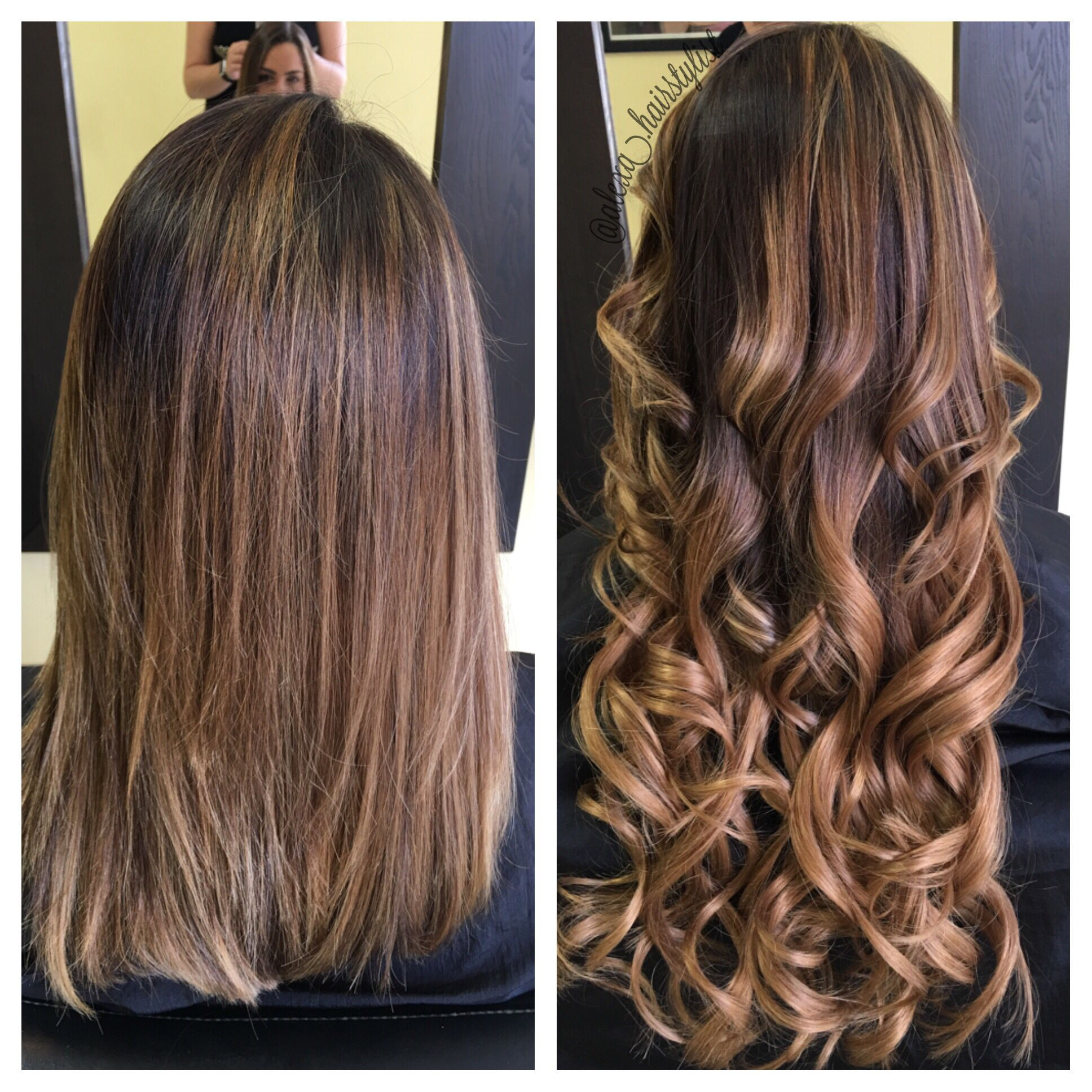 Before And After Tape In Extensions 20 22 Inches Hair