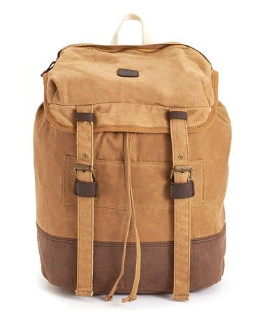 Look what I found on #zulily! Tan & Brown Backpack by J. Campbell #zulilyfinds