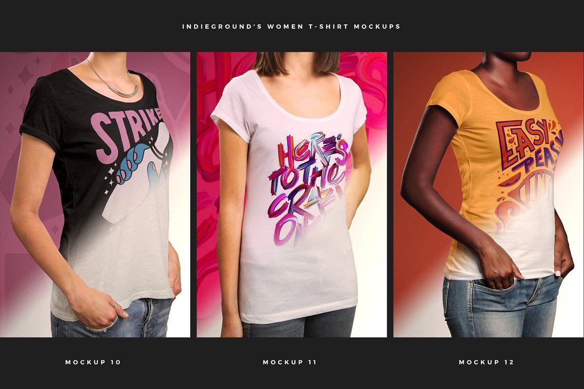 Download Women T Shirt Mockups T Shirts For Women Shirt Mockup Tshirt Mockup PSD Mockup Templates