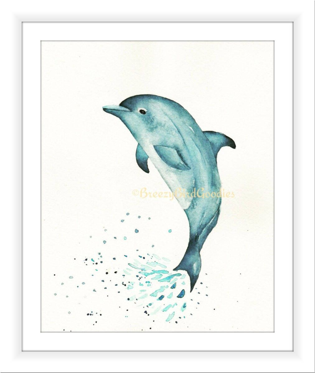 Uncategorized Dolphin Images To Print blue dolphin print watercolour sea life art for home beach