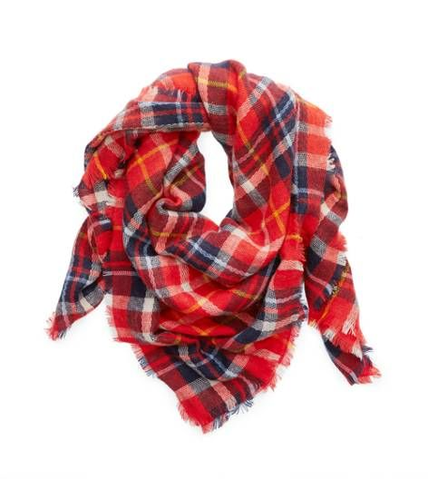 Holiday Red Aerie Blanket Scarf