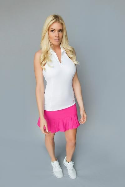 FlirTee Golf Front/Back Pleated Skirt! Available in 3 Colors!