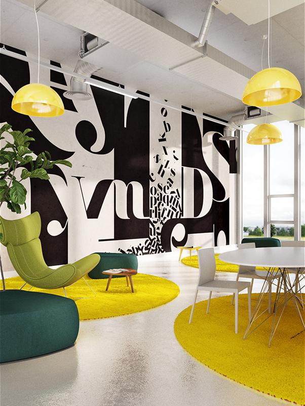 Typography Wallpaper Mural   Designer Wallpaper   Accent ...