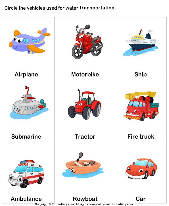 Water transport - TurtleDiary.com | logo: vervoer | Pinterest ...