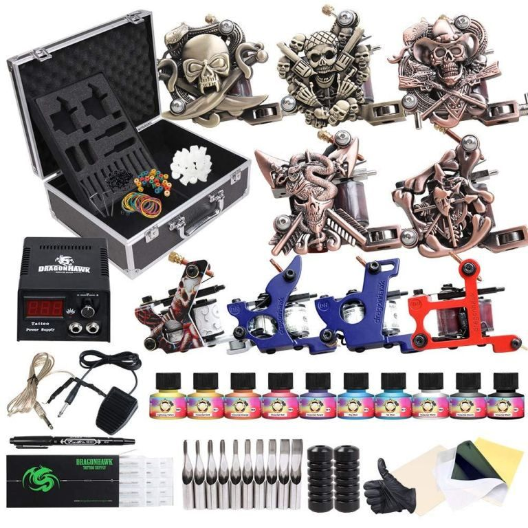 5 BEST Tattoo Machine Starter Kits for Beginners! Dragonhawk Tattoo ...