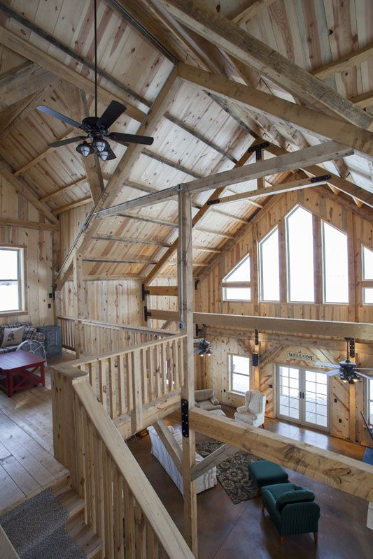 post beam construction in a barn cabin on the lake https www. Black Bedroom Furniture Sets. Home Design Ideas