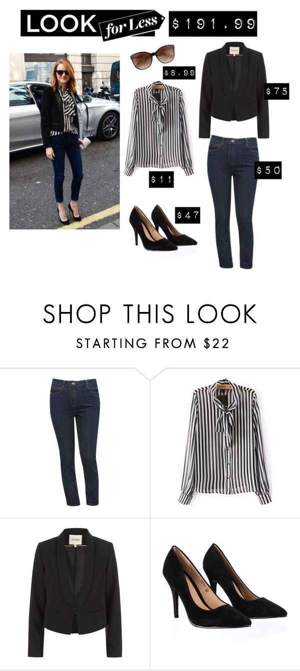 """#lookforless"" by definingmyworld ❤ liked on Polyvore featuring M&Co, Havren, Lipsy and LookForLess"