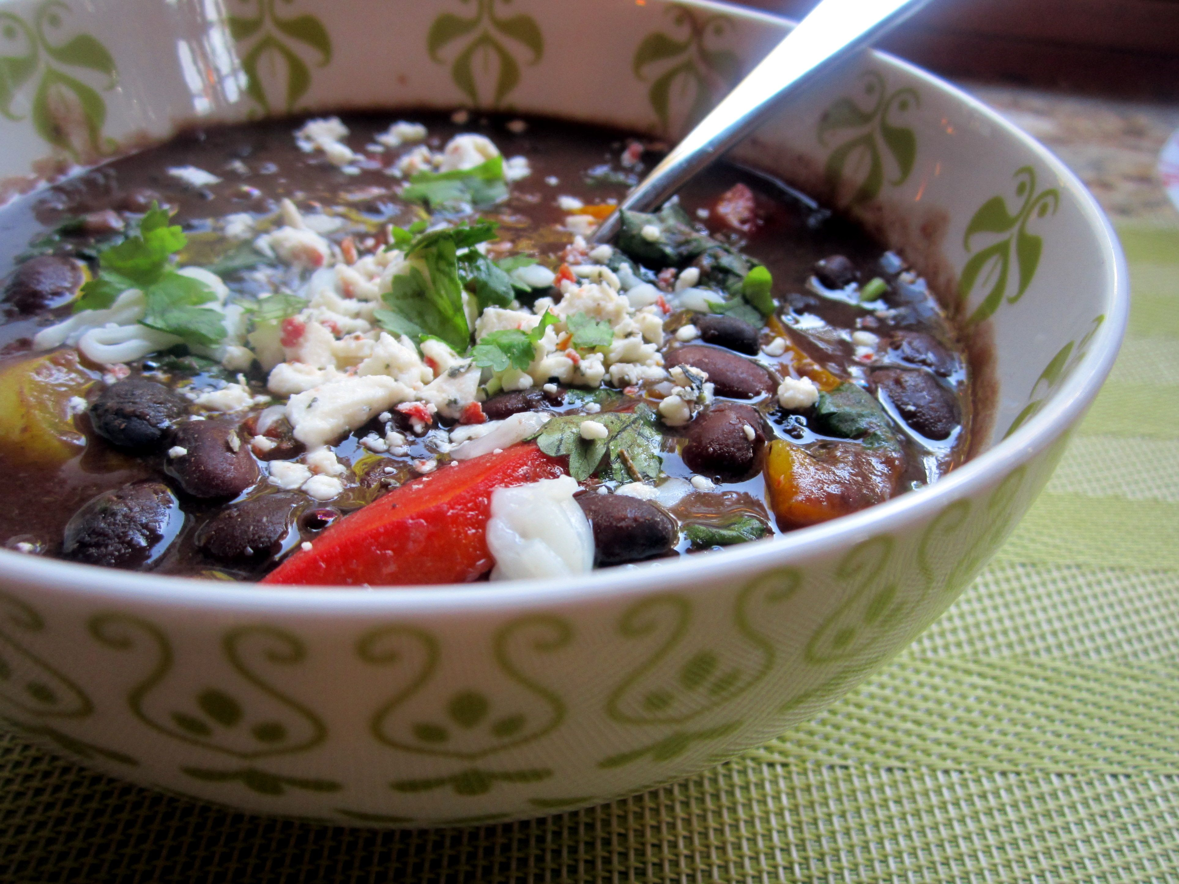 Slow cooked spicy caribbean black bean soup ambitious