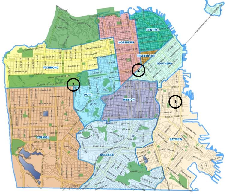 San Francisco S Drug Geography Map Police District San Francisco