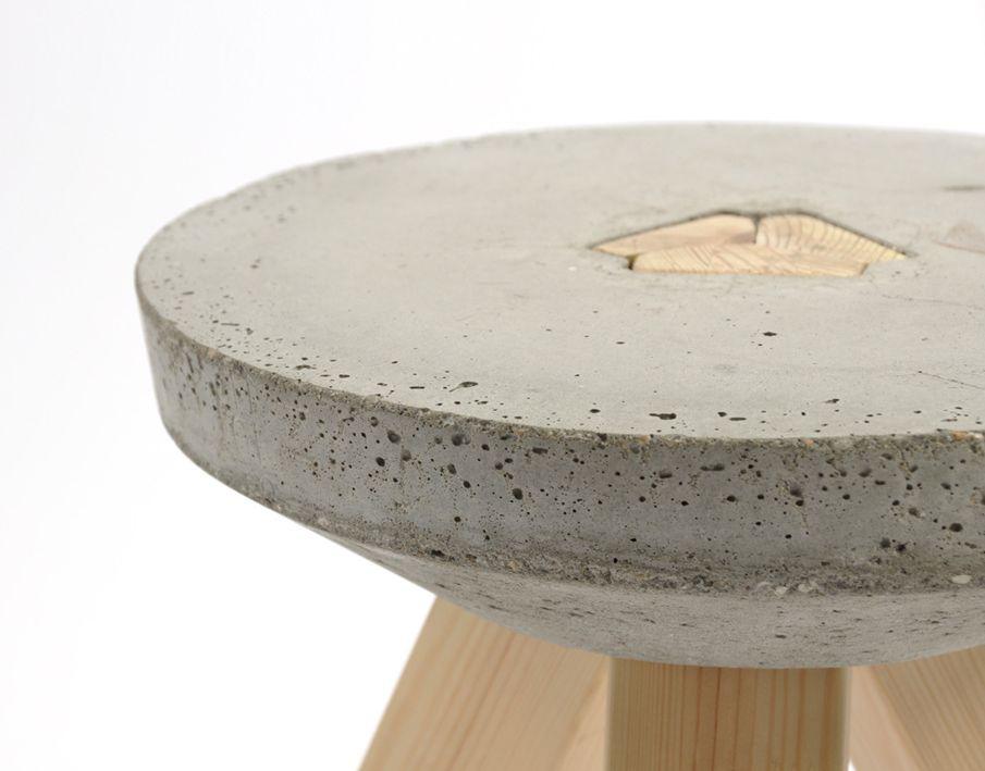 concrete wood stool basteln pinterest hocker. Black Bedroom Furniture Sets. Home Design Ideas