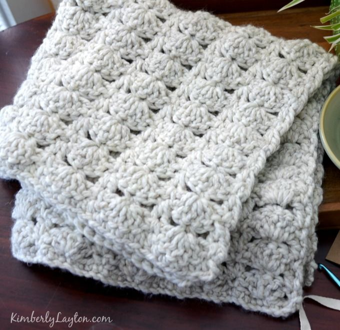 Baby Blanket Crochet Pattern by KimberlyLayton.com   Tricot   Pinterest