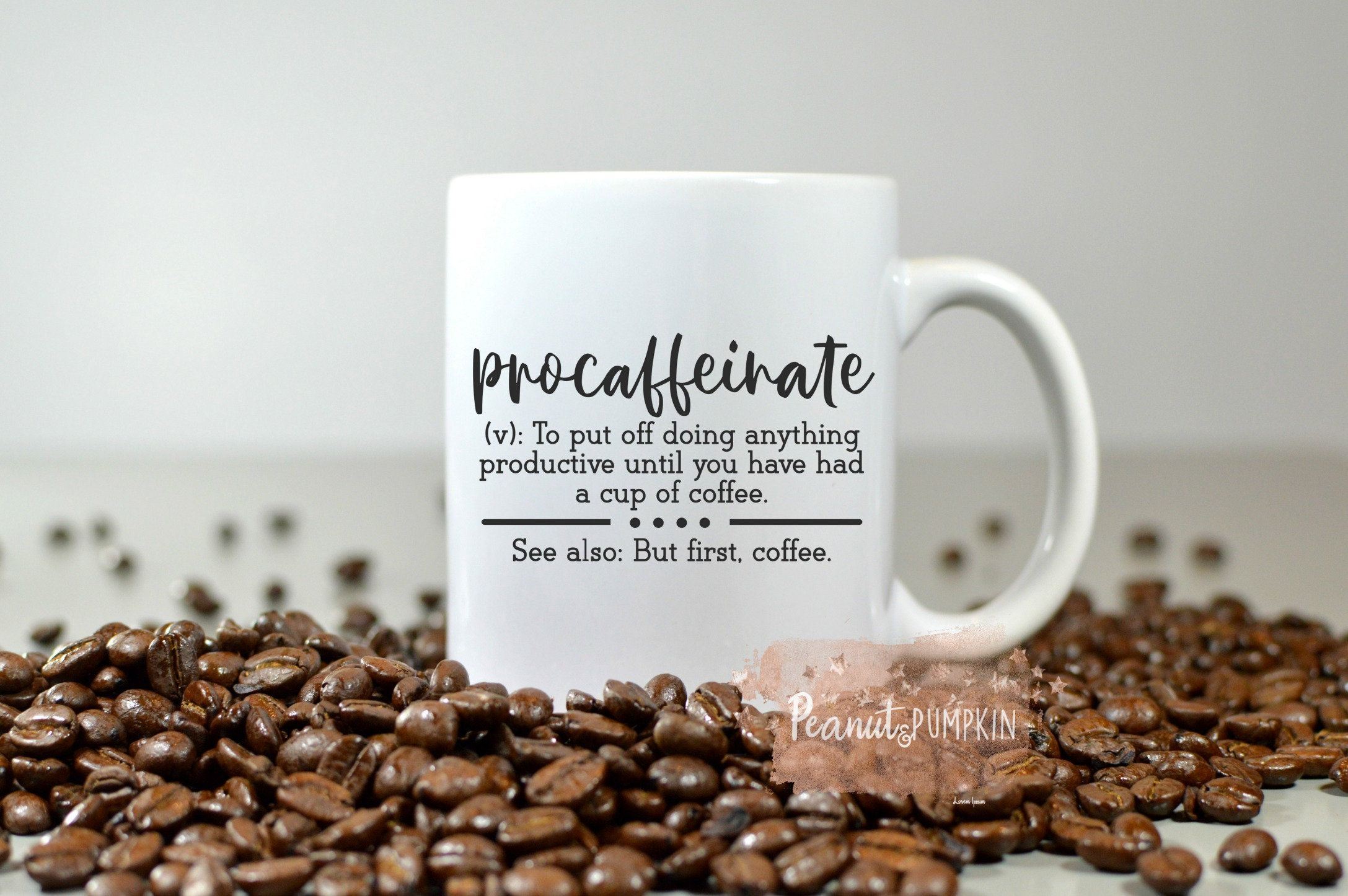 Coffee mug, caffeine mug, custom coffee mug, gift for him